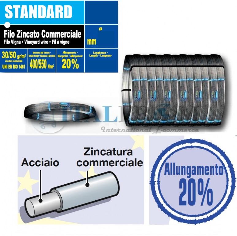 50 kg filo zincato per vigneto bekaert zincatura for Recinzioni bekaert