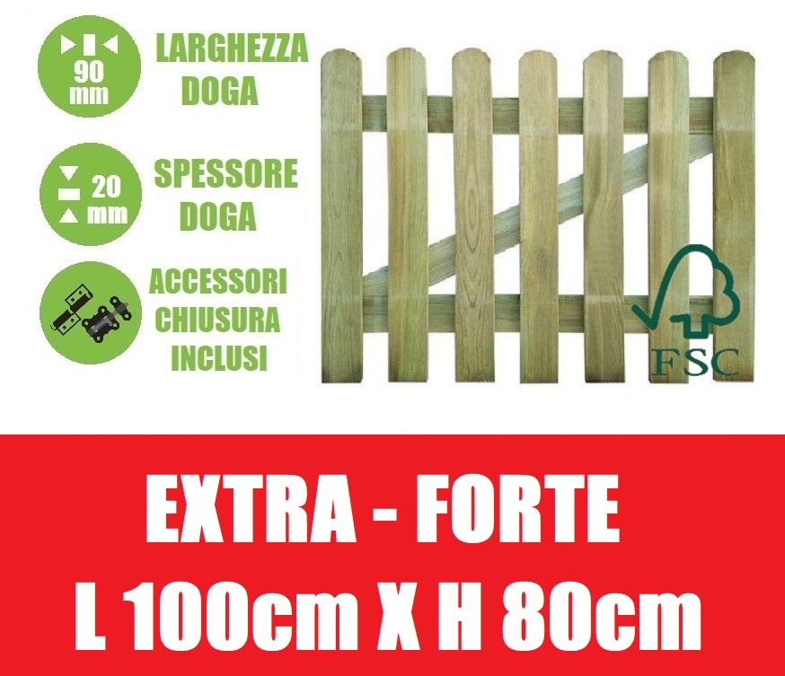 Cancelletto in legno di pino con doghe per steccato for Cancelletto per cani da esterno