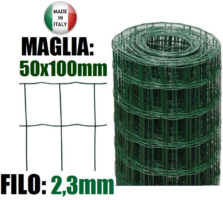 25mt rotolo rete metallica zincata plastificata for Rete recinzione bricoman