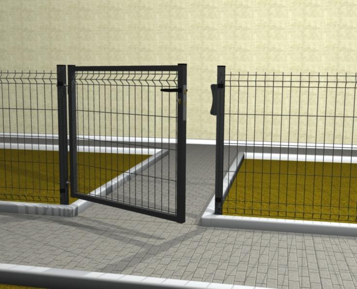 Cancello medium pedonale con rete 50x200x5 mm telaio for Prezzo del ferro al kg oggi