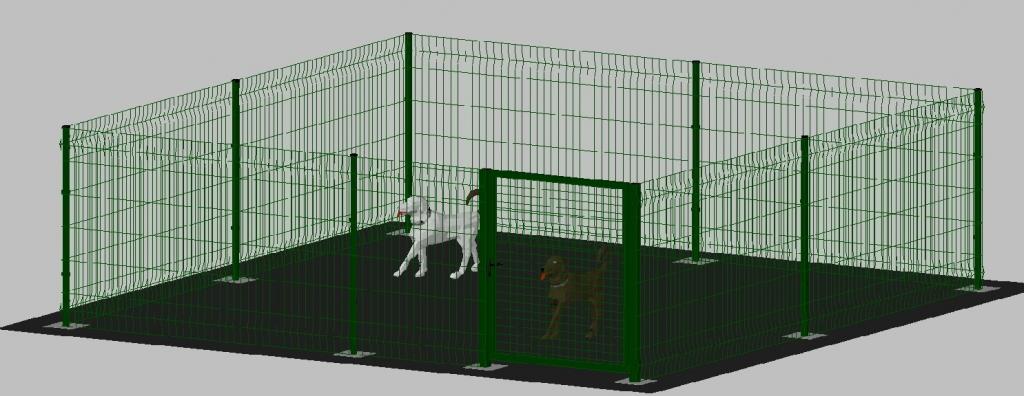Recinto box modulare per cani in ferro zincato e for Cancelletto per cani da esterno