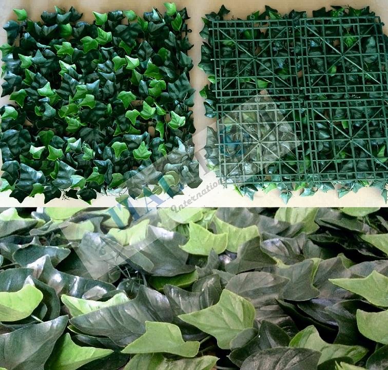Siepe finta artificiale formato piastrella cm 50x50 con for Siepi artificiali per balconi