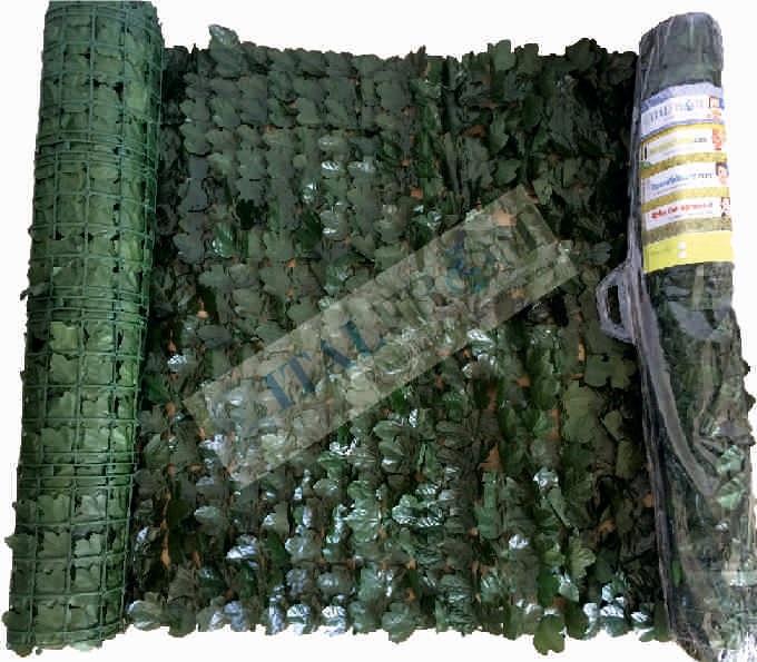 Siepe finta artificiale a rotolo foglie di edera for Siepe sintetica artificiale