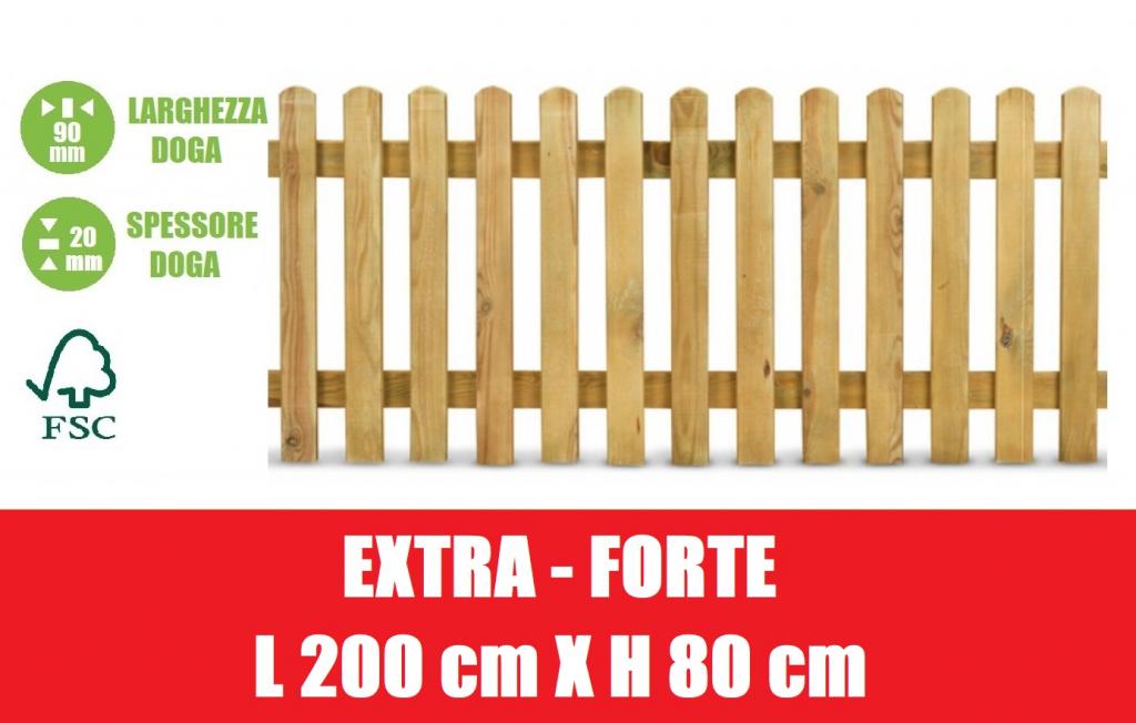 Steccato in legno di pino con doghe dimesioni l 200cm - Palizzate per giardino ...