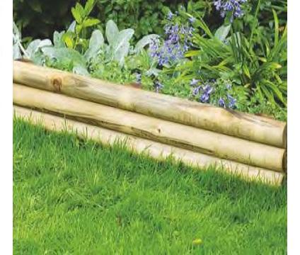 Bordura steccato rigida orizzontale per aiuole giardino in legno di pino cm 6 x l120 xh18 35 - Cordoli in legno per giardino ...
